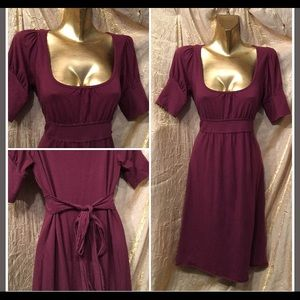 Juicy couture plum 3/4 sleeve dress size S